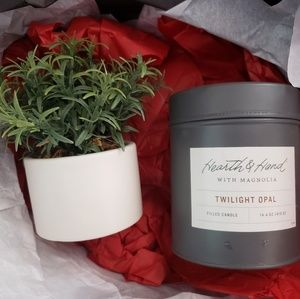 Hearth & Hand Candle and Plant